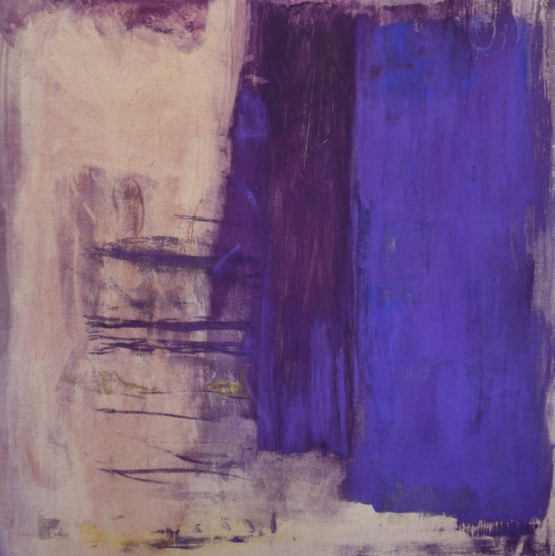 Monique Frydman - « Jubilation » :  Monique Frydman - violet III - pastels secs, pigments et liant sur toile de lin - 1992 - 168 x 165 cm