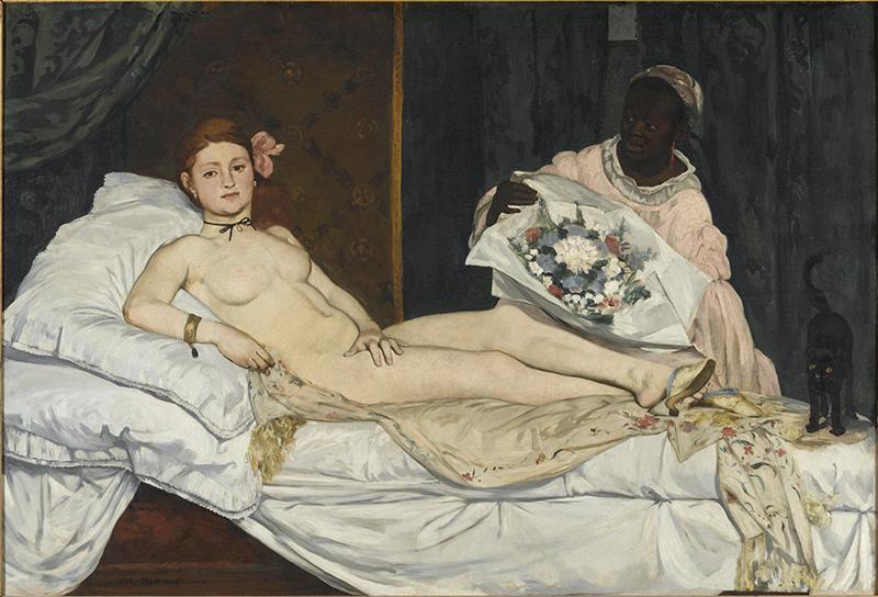 Le Modèle noir deGéricault àMatisse : Edouard Manet. Olympia, 1863 Huile sur toile, 130,5 X 191 cm © Musée d'Orsay / Patrice Schmidt