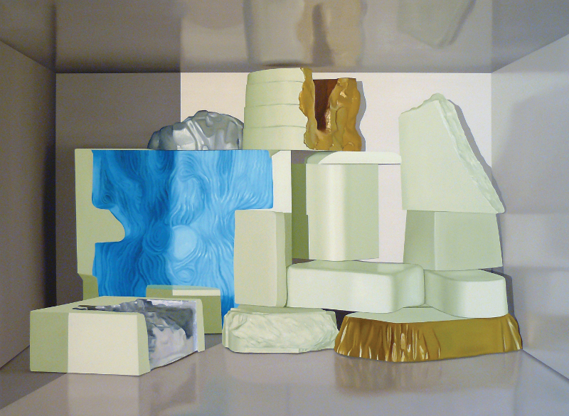 À quoi tient la beauté des étreintes? : Maude Maris - Ruines  - 2012 - Huile sur toile - 185 x 250 Collection FRAC Auvergne