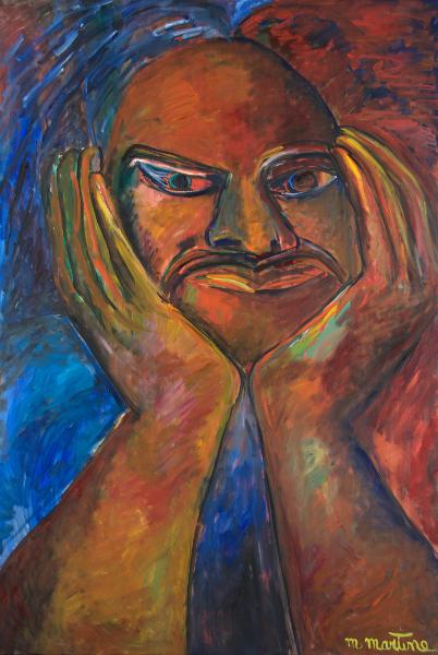 Martine Martine - Balzac, jour et nuit, de Tours à Saché : Martine Martine. Balzac 9. Huile sur toile, 2012, 195 x 130 cm © ADAGP 2013 Bertrand Michau