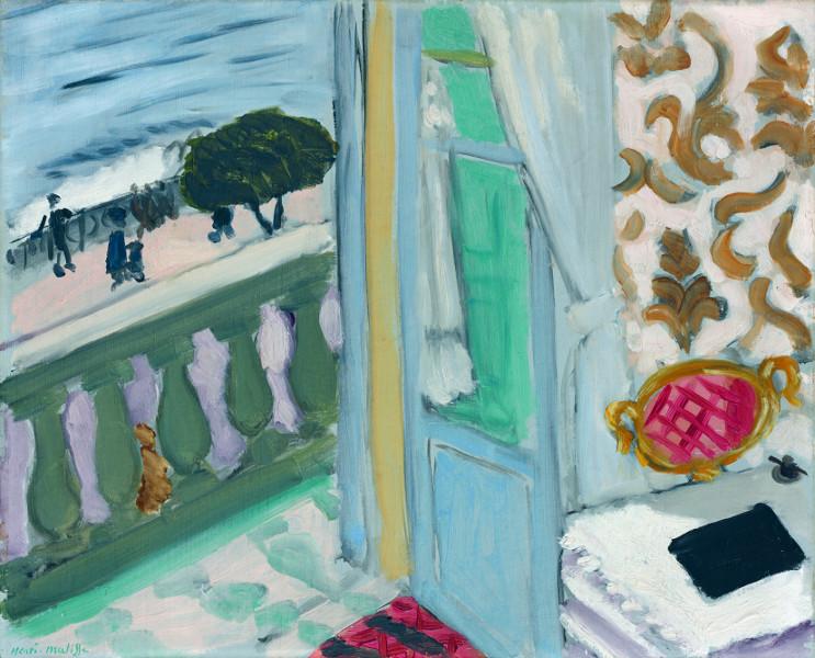 Fenêtres - De la Renaissance à nos jours, Dürer, Monet, Magritte ... : Henri Matisse?Nice, cahier noir, 1918?huile sur toile, 33 x 40,7 cm?Hahnloser/Jaeggli-Stiftung, Villa Flora, Winterthur?photo Reto Pedrini, Zurich?© Succession H. Matisse / Hahnloser/Jaeggli-Stiftung, Villa Flora,Winterthur / 2013,ProLitteris, Zurich