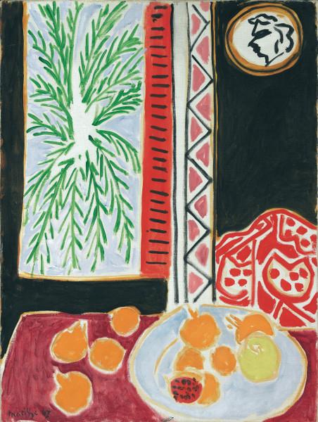 Palmiers, palmes et palmettes : Henri MATISSE - Nature morte aux grenades, 1947 Huile sur toile, Musée Matisse, Nice. © Succession H. Matisse Photo : François Fernandez