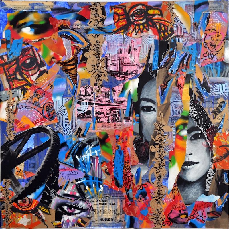 MIX'ART : YZ, Speedy Graphito, Artof Popof, DaCruz, Thomas Canto, Nux Xän, James Reno, Claude Cauquil, Mickaël Caruge ; Fresque (détail) ; 2011 ; ph. G.Germain