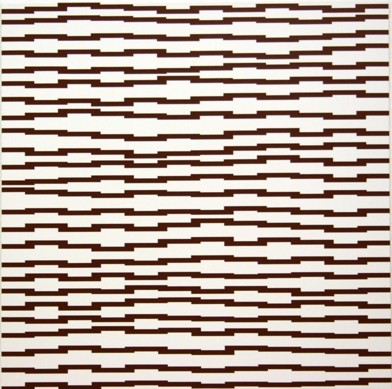 Vera Molnar «60 ans de carrés» : Structure à l'horizontale; 1987-2009; © galerie Oniris - rennes, ADAGP, Paris, 2010.