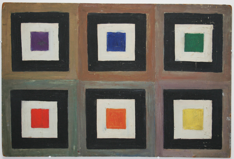 Vera Molnar «60 ans de carrés» : carréeconcentriques; 1948; © galerie Oniris - rennes, ADAGP, Paris, 2010.