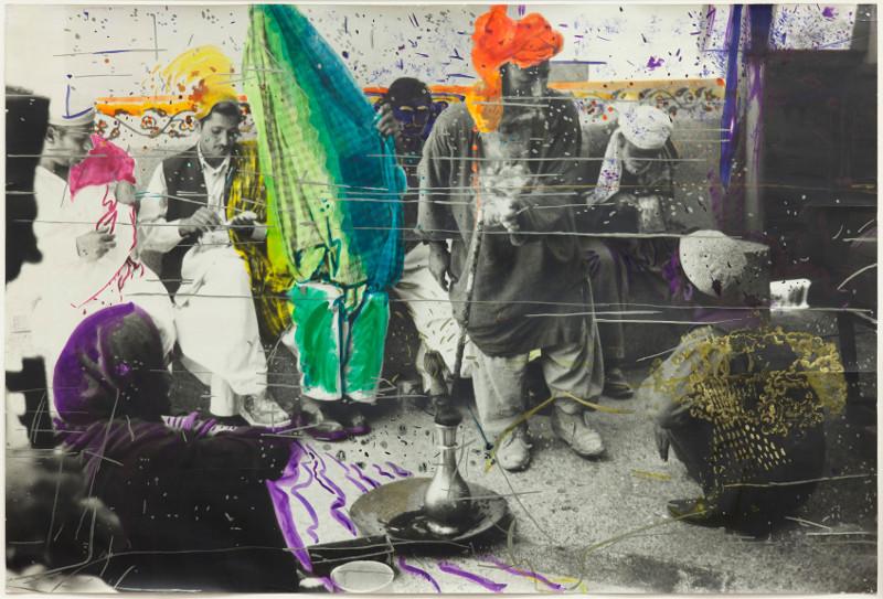 Alibis : Sigmar Polke 1963-2010 : Sigmar Polke, German, 1941–2010. Untitled (Quetta, Pakistan).1974/1978,  Gelatin silver print with applied color, 56.9 × 85.9 cm. Glenstone Photo: Alex Jamison © 2014 Estate of Sigmar Polke/ Artists Rights Society (ARS), New York / VG B