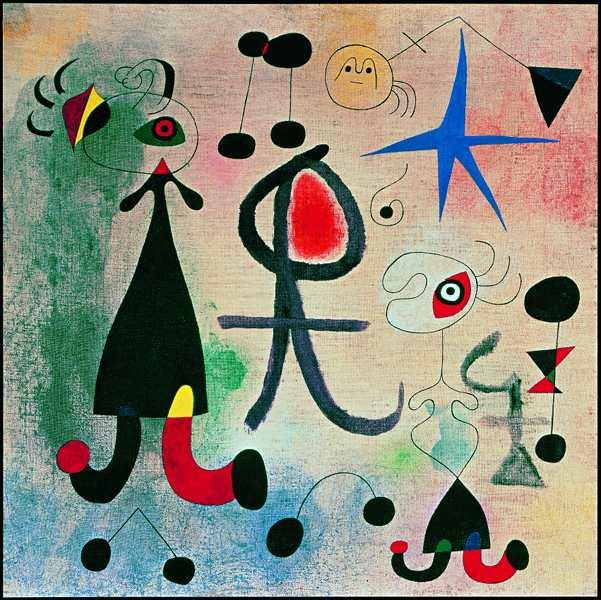 Le Mythe de la Couleur – Collection Merzbacher : Joan Miró, L'Espoir, 1946, Huile sur toile, 58 x 58 cm © Photo Peter Schälchli © 2012 ProLitteris Zurich.jpg