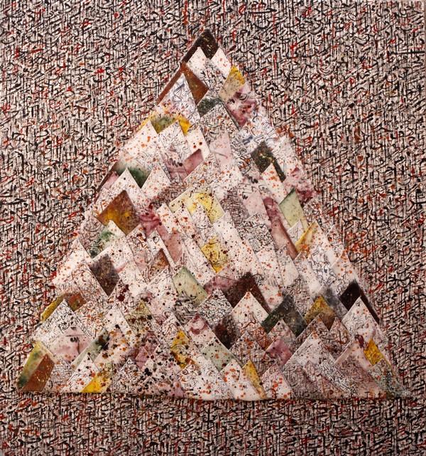 Traits d'Union – Paris et l'art contemporain arabe : Sans titre, 2012, technique mixte sur toile, 143 x 133 cm