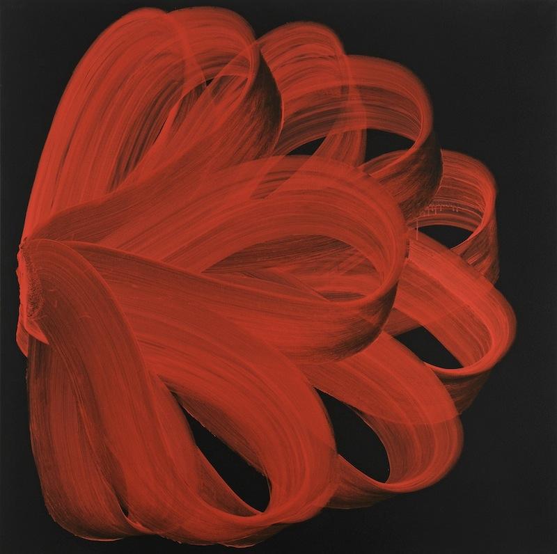 Najia Mehadji - It smells like freedom : Najia Mehadji, Volute, 2012, peinture acrylique sur toile, 150X150cm, Copyright Najia Mehadji