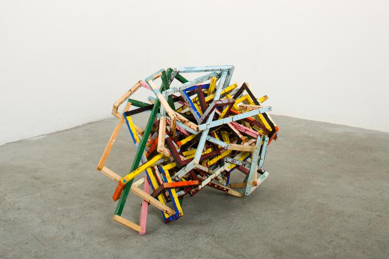 Philippe Richard. Refaire surface : Philippe Richard, Nœud, 2014, acrylique sur bois, dimension variable_© Photo Marc Plantec