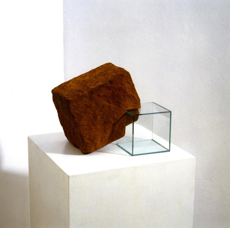 Notre vallée : Gunter WAGNER, Mis sur, verre et métal oxydé, 1998, musée du château de Montbéliard.