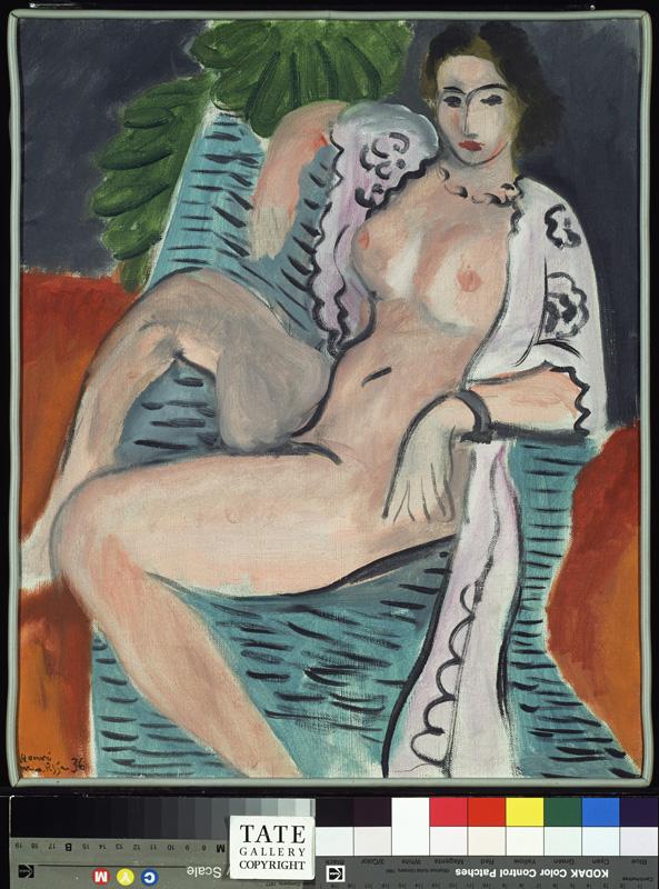 Lydia D., muse et modèle de Matisse : Nu au fauteuil, fond rouge ©Succession H. Matisse