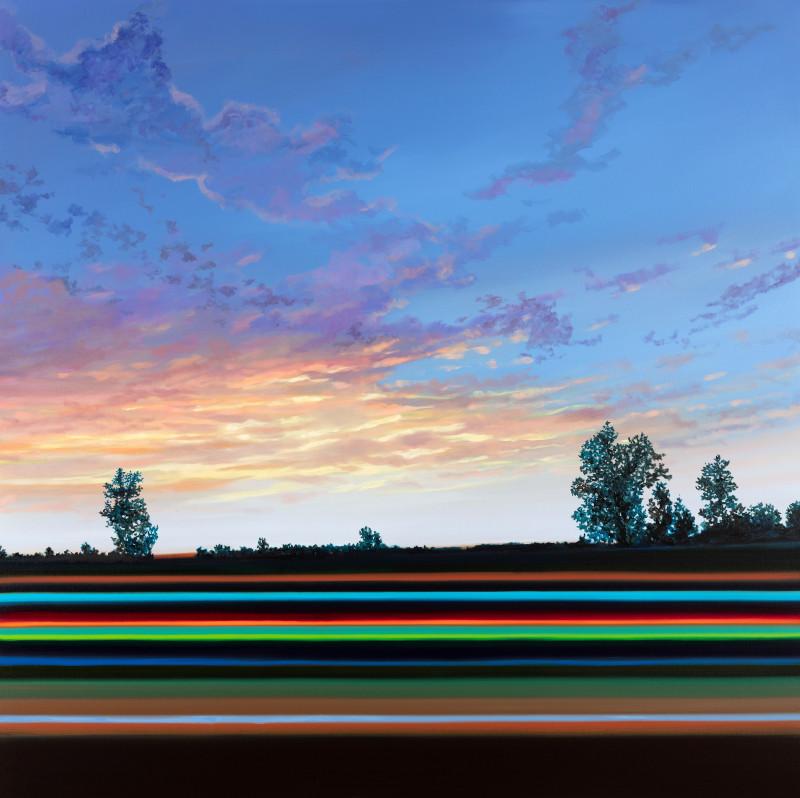 Olivier Masmonteil. Le voile effacé : Olivier Masmonteil. Capriccio corre?zien. 2019, Capricci. Huile sur toile, 200 x 200 cm.  Photo Hugo Miserey