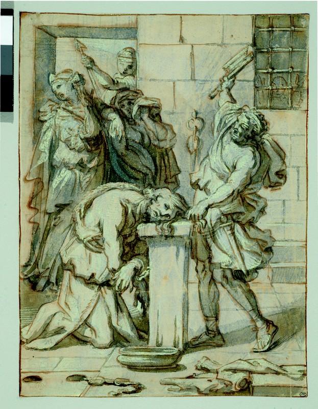 De Poussin à Fragonard : hommage à Mathias Polakovits : Frère Luc, La Décollation de saint Jean-Baptiste