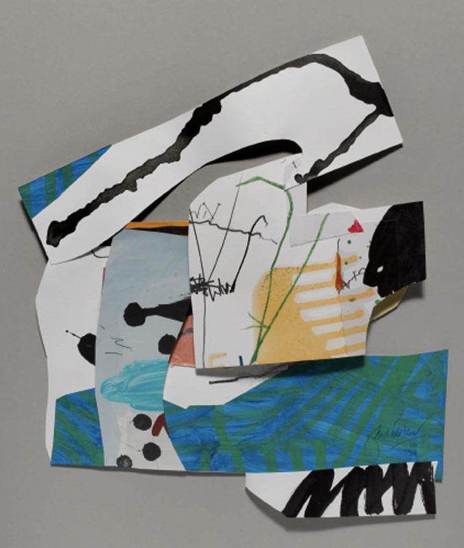 Jean Gaudaire-Thor - Parc Montjuïc : Jean Gaudaire-Thor, Parc Guell, 2009, Technique mixte sur papier, 50 x 43 cm