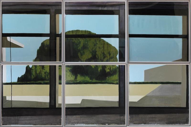 Jérémy Liron – L'Inquiétude : Jérémy Liron, Paysage 110, 2011, huile sur toile, 246 x 369 cm. Courtesy Galerie Isabelle Gounod