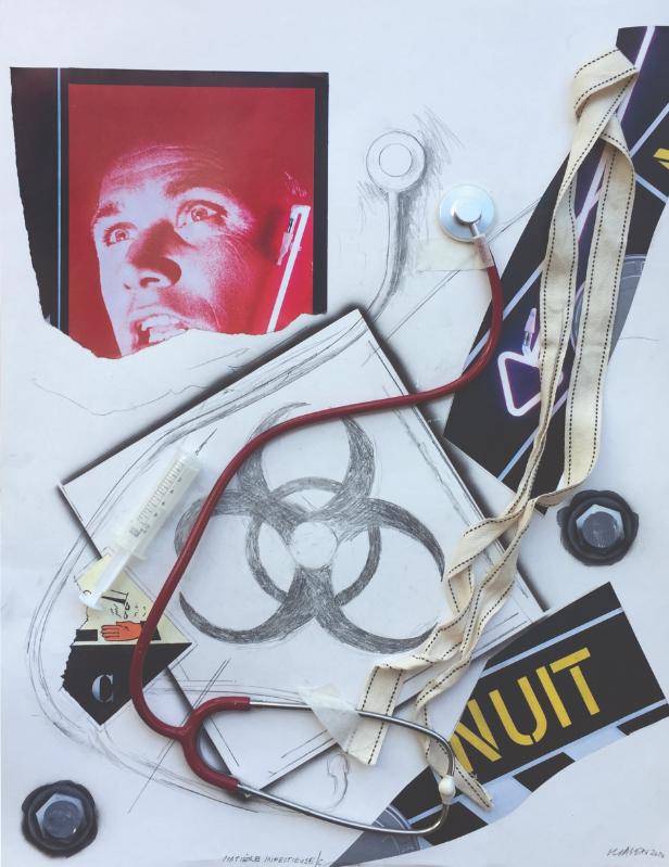 Figurez-vous… Adami, Erró, Guyomard, Klasen. : Peter Klasen-Matiere infectieuse-2020 © D.R. _ Collection particulière