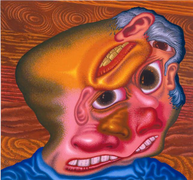 Peter Saul : Panic attack in the Lumber Yard, 2007, courtesy David Nolan gallery, New York © Peter Saul