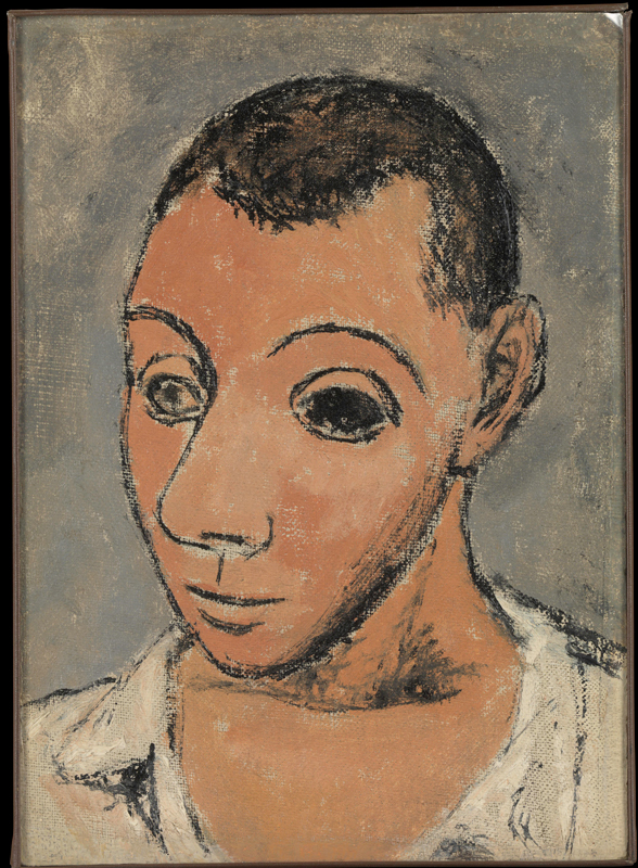 Matisse, Cézanne, Picasso... L'aventure des Stein : Pablo Picasso. Autoportrait. 1906, huile sur toile, 26 x 19 cm. Metropolitan Museum of Art, New York.