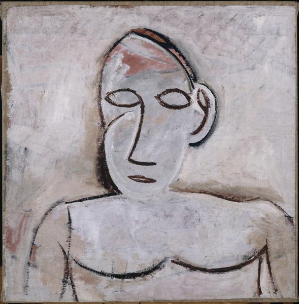 Matisse et Picasso - La comédie du modèle : Pablo Picasso Buste, printemps 1907 Huile sur toile Musée national Picasso-Paris Dation en 1979 © Succession Picasso 2018 © RMN-Grand Palais / René-Gabriel Ojéda