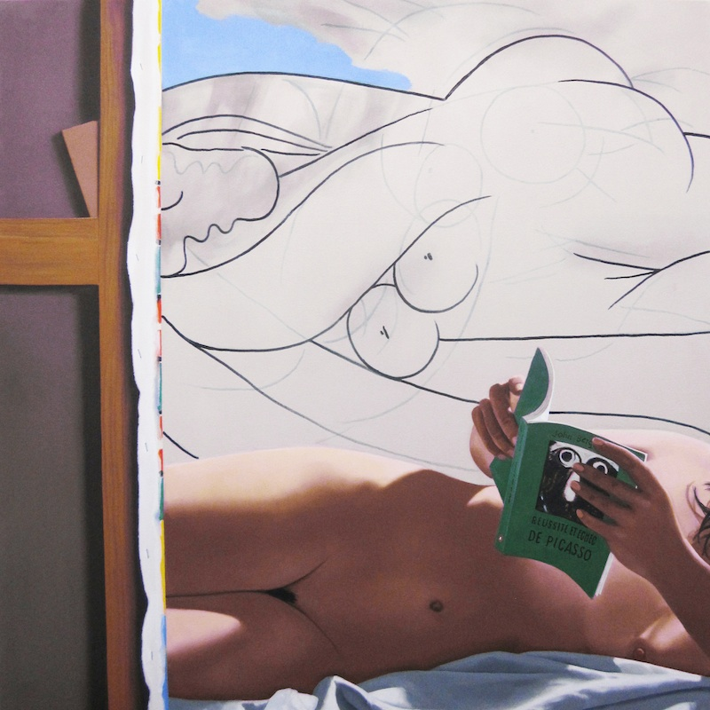 Picasso forever : Gérard SCHLOSSER, On ira, 2011, acrylique sur toile sablée, 150 x 150 cm