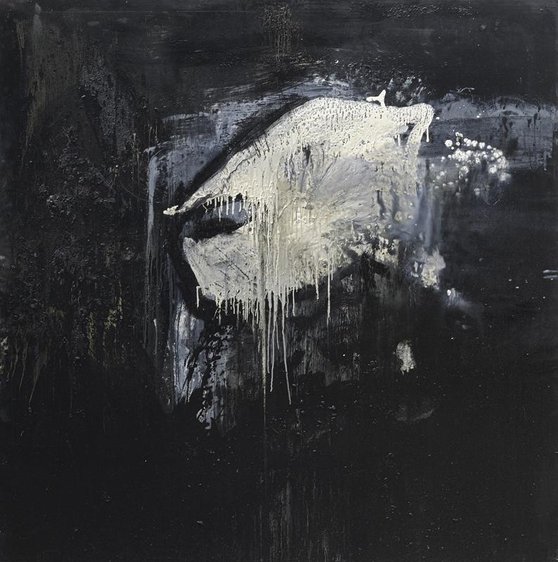 Gérard Alary, Saint Soleil : Portrait noir, 2009, huile sur toile, 200 x 200 cm
