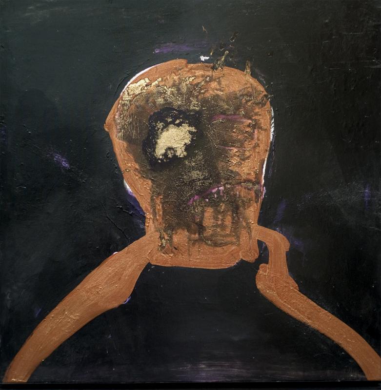 Gérard Alary, Saint Soleil : Portrait Saint Soleil I - 2010 acrylique sur toile 100 x 100 cm