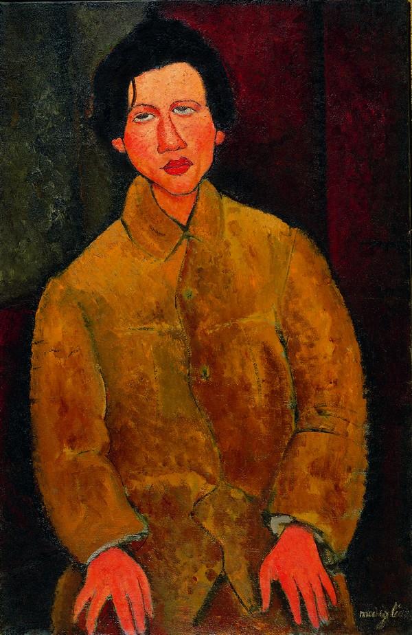 La collection Jonas Netter – Modigliani, Soutine et l'aventure de Montparnasse : Amedeo Modigliani, Portrait de Soutine, 1916-Huile sur toile-100 x 65 cm-Collection privée