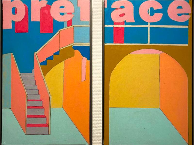 Agnès Thurnauer - Rrose c'est la life : Agnès Thurnauer, Prédelle, vue de  l'exposition Rrose c'est la life au Centre d'art contemporain Bouvet-Ladubay, Saumur