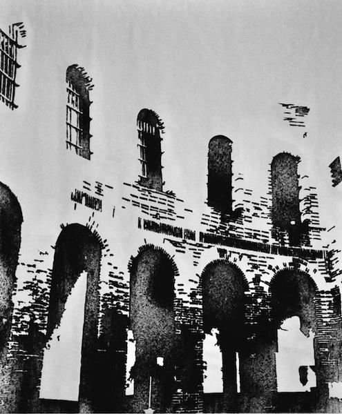 Nicolas Daubanes, Pablo Garcia – Le silence n'est pas un oubli : Préso de Mataro - 2012 Dimensions : 52 cm x 72 cm Poudre d'acier aimantée © Nicolas Daubanes courtesy galerie SIT DOWN