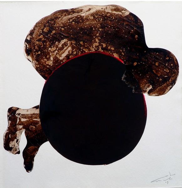 Proche – Carte blanche à Pascal Amel : Mahi Binebine, SANS TITRE, Encre et goudron sur papier, 78 x 80 cm, 2009