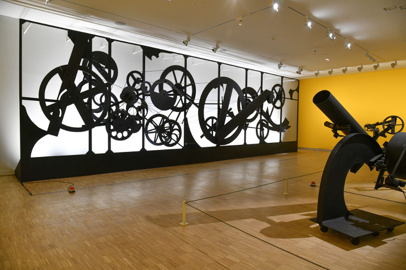 Renault, l'art de la collection : Vue de l'exposition. Oeuvres de Jean Tinguely. © Adagp, Paris, 2018, Photo Georges Poncet