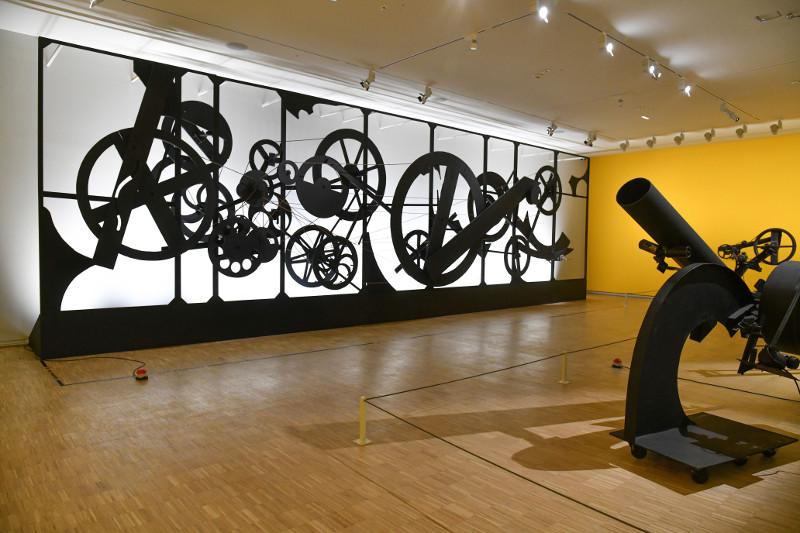 Renault, l'art de la collection : Vue de l'exposition. Oeuvres de Jean Tinguely. © Adagp, Paris, 2018, Photo Georges Poncet