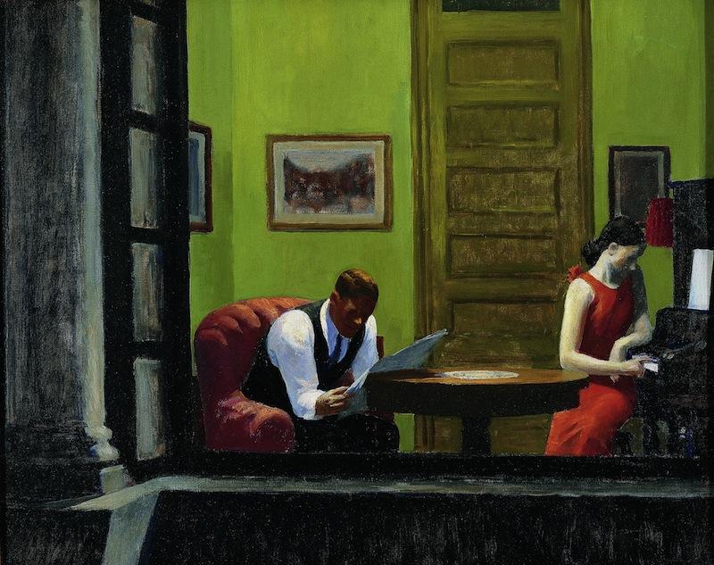 Edward Hopper : Edward Hopper Room in New-York 1932 Huile sur toile, 74,4 x 93 cm Sheldon Museum of Art, University of Nebraska – Lincoln, UNL-F.M. Hall Collection © Sheldon Museum of Art