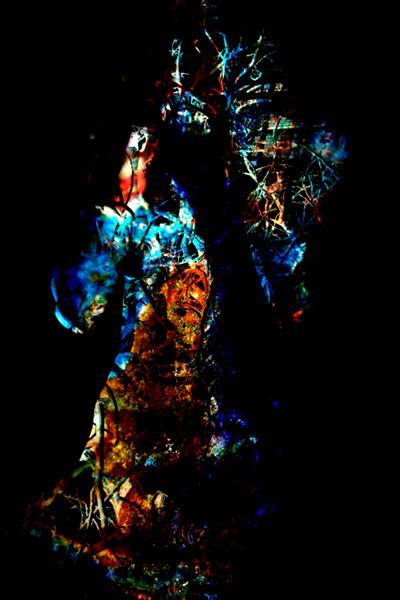 Shirley Rufin. À chacun sa chimère : Shirley Rufin. Chimère III. 2015, photographie noir et blanc avec traitement chimique sur plexiglas, 110 x 150 cm. © Shirley Rufin