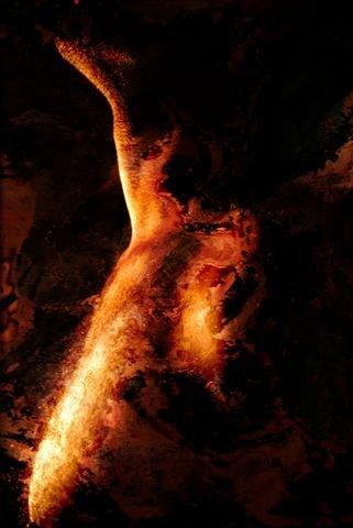 Shirley Rufin. À chacun sa chimère : Shirley Rufin. Chimère V. 2015, photographie noir et blanc avec traitement chimique sur plexiglas, 110 x 150 cm. © Shirley Rufin