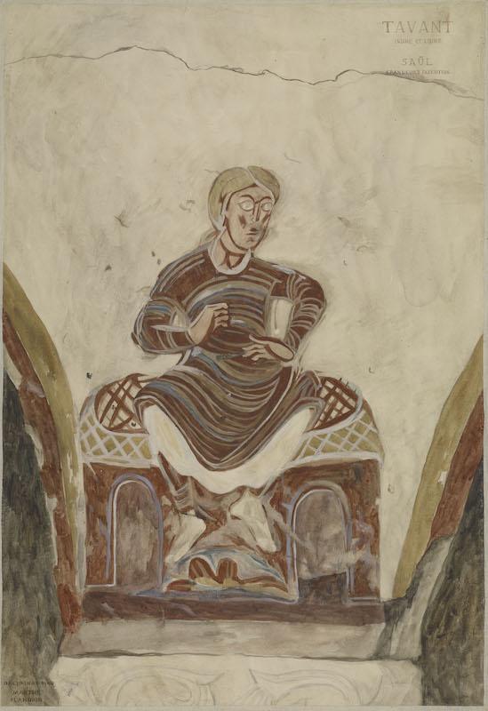 Pierre Soulages. Un musée imaginaire : Releve de peinture murale de l'eglise de Tavant. Crypte ; Saul Photo (C) Ministere de la Culture -Mediatheque de l'architecture et du patrimoine