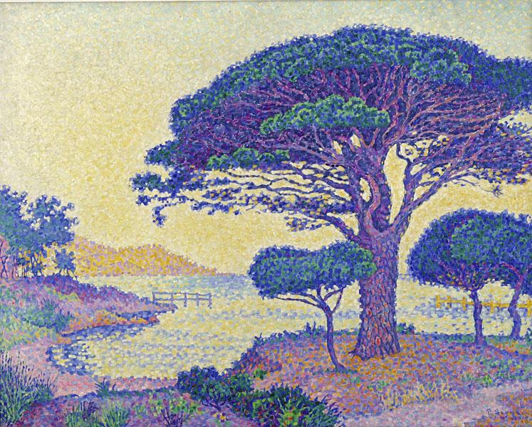 L'arbre dans la peinture de paysage entre 1850 et 1920 de Corot à Matisse : Paul Signac (1863-1935) Saint-Tropez. Les pins parasols des Canoubiers, 1897, Huile sur toile, 65,1 x  80,5 cm, Saint-Tropez, musée de l'Annonciade