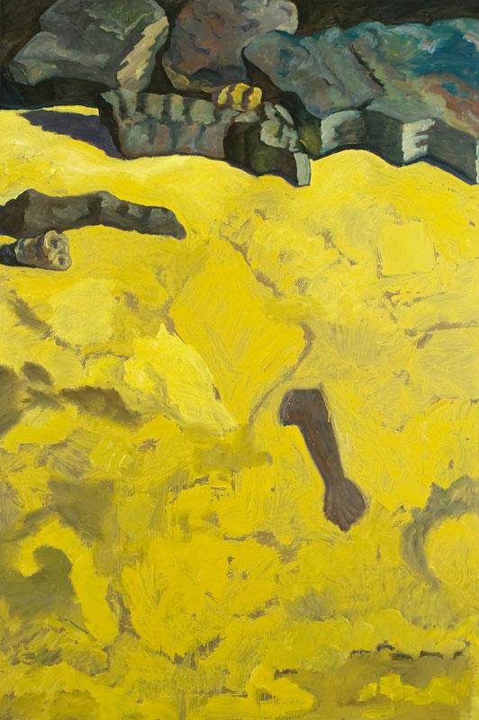 Carte blanche à Pierre Wat : Sans titre Guy de Malherbe huile sur toile 195x130cm 2011 copyright Alberto Ricci