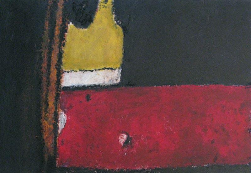 Philippe Hélénon : Sans titre I, acrylique et pastel à l'huile sur papier, 31x46cm, 2010