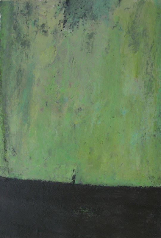 Philippe Hélénon : Sans titre IX, acrylique et pastel à l'huile sur papier, 31x46cm, 2010