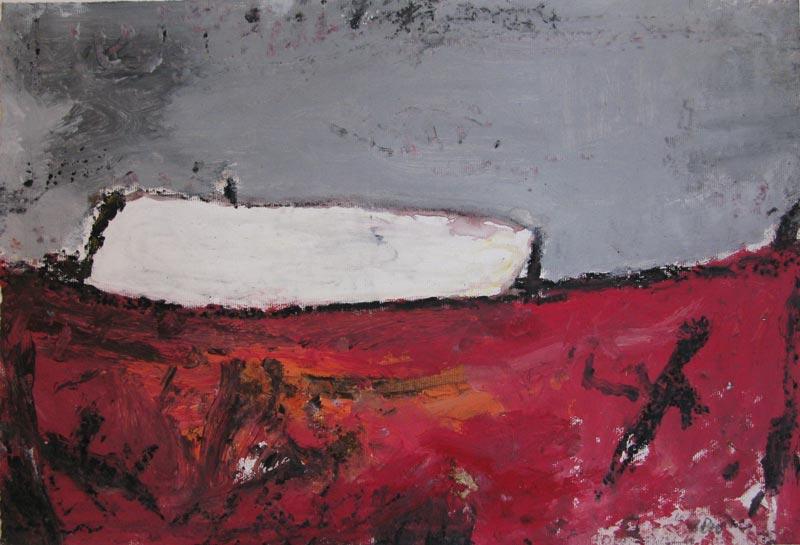 Philippe Hélénon : Sans titre XX, acrylique et pastel à l'huile sur papier, 31x46cm, 2010