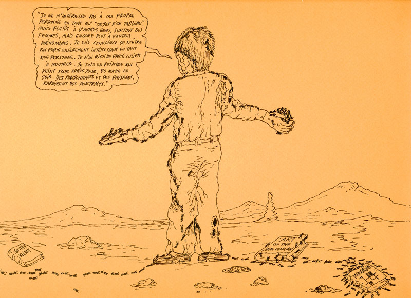 Álvaro Oyarzún – dessins : Sans titre_2009 rotring sur papier, 25 x 32,5 cm - courtesy Galerie Catherine Putman