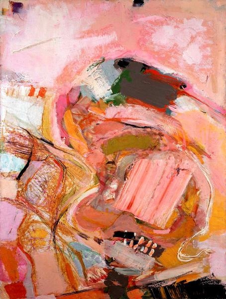 Shafic Abboud et la Modernité : Shafic Abboud, A l'atelier, 1970. Huile sur toile, 130 x 97 cm. Copyright Succession Shafic Abboud. Courtesy Galerie Claude Lemand, Paris