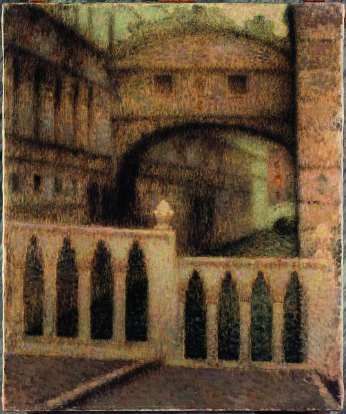 Le Postimpressionnisme et Rhône-Alpes : Henri Le Sidaner. Le Pont des soupirs. 1906, huile sur toile, 89 × 74 cm.