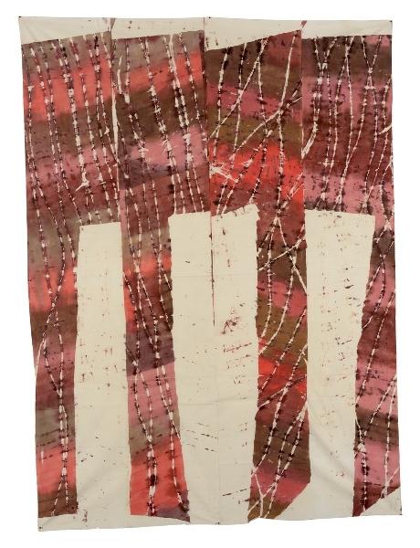 Support/Surfaces et après… : André-Pierre Arnal, Ficelage, 1982-83, dim : 216x156