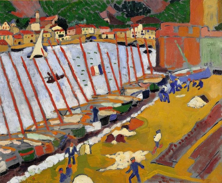 Le Grand Atelier du Midi – De Van Gogh à Bonnard : André Derain, Le Faubourg de Collioure 1905 Huile sur toile, 59,5 x 73,2 cm Paris, Centre Pompidou, musée national d'art moderne, achat en 1966 © Centre Pompidou, MNAM-CCI, Dist. RMN-Grand Palais / Philippe Migeat © Adagp, Paris 2013