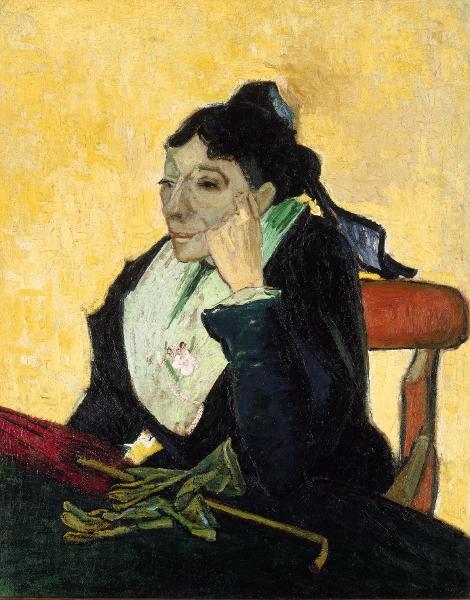 Le Grand Atelier du Midi – De Van Gogh à Bonnard : Vincent Van Gogh, L'Arlésienne, Madame Ginoux Huile sur toile, 91x73 cm Paris, musée d'Orsay © Rmn - Grand Palais (musée d'Orsay) / Gérard Blot