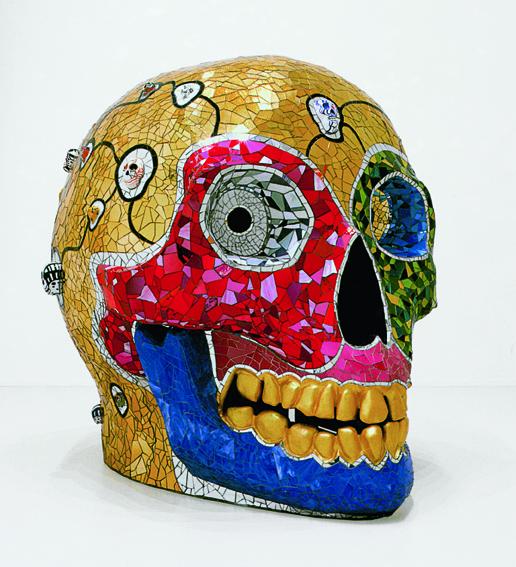 Niki de Saint Phalle : Skull (Meditation Room), Sprengel Museum, Hanovre, donation de l'artiste en 2000, © 2014 Niki Charitable Art Foundation, All rights reserved / Photo : Michael Herling