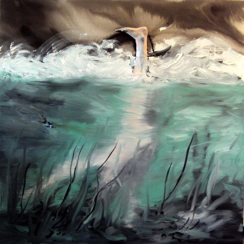 Stéphane Pencréac'h - Tempestad : Le noye, 2011, technique mixte, 200 x 200 cm.
